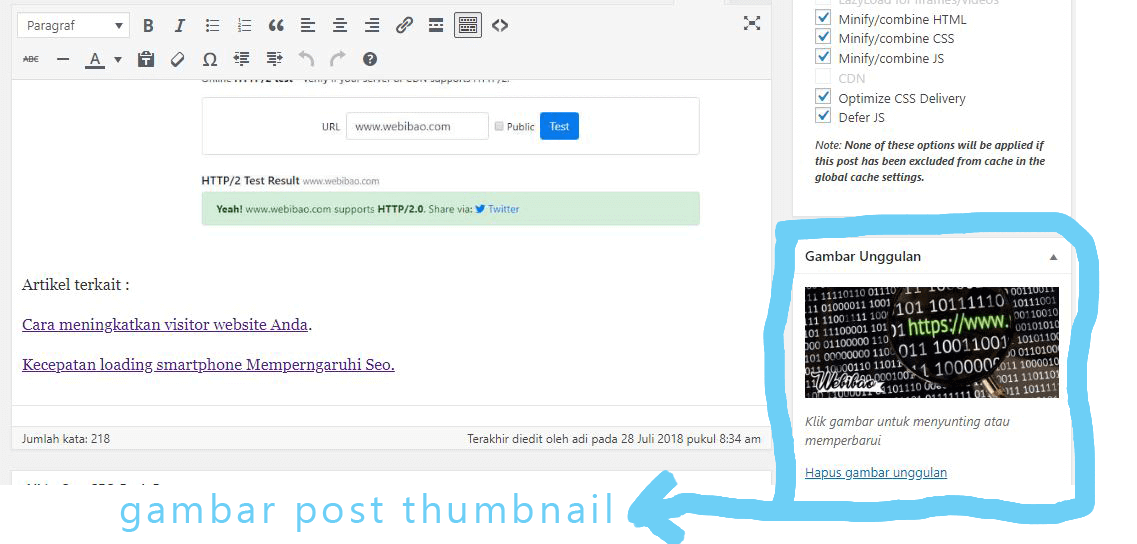 Cara membuat gambar post thumbnail responsive di wordpress